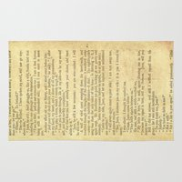 jane eyre Area & Throw Rugs featuring Jane Eyre, Mr. Rochester First Marriage Proposal by Charlotte Bronte by ForgottenCotton