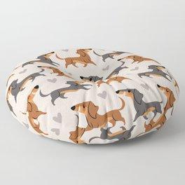 Dachshund Pups Floor Pillow