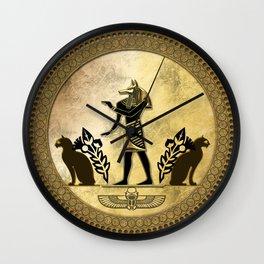 Anubis the egyptian god Wall Clock