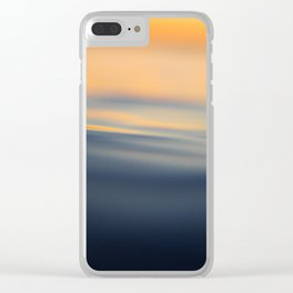 Calm sea at sunset time Clear iPhone Case