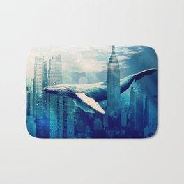 Blue Whale in NYC Bath Mat