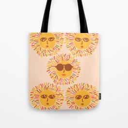 Retro Sunshine Party #positivevibes Tote Bag