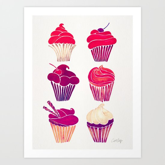 Cupcakes – Fuchsia Palette by catcoq