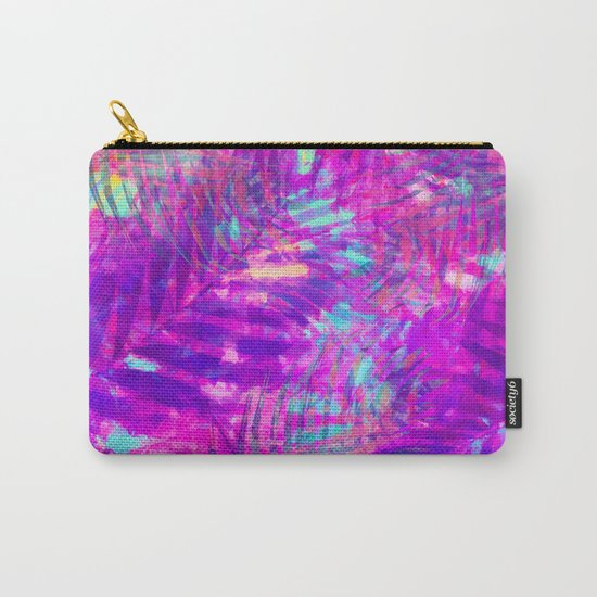 Colorful abstract palm leaves 3 Carry-All Pouch