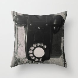 Rotary Telephone Throw Pillow