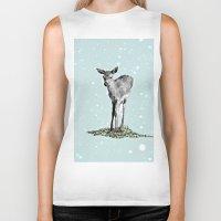 bambi Biker Tanks featuring Bambi by Monika Strigel