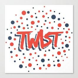 Twist N.12Bis Modele Rond Canvas Print