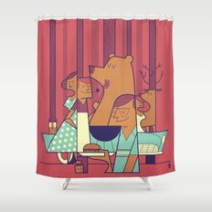 Barbecue Shower Curtain