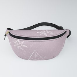 Merry Christmas Pink Fanny Pack