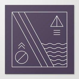 Native & modern geometric pattern 03 Canvas Print