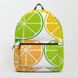 Citrus fruit slices Backpack