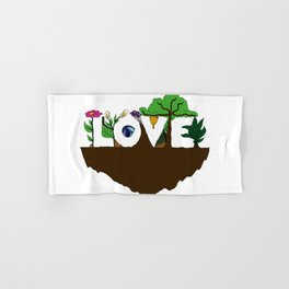 Love for Nature in Negative Space Hand & Bath Towel