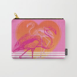 Flamingos at Sunset | Pink Flamingos | Vintage Flamingos | Two Flamingos | Flamingo | Modern Retro | Carry-All Pouch