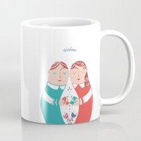 sister Mugs featuring Sister by Michela Gaburro