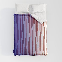 design lines blue with pink Comforters
