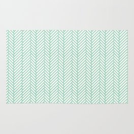 Herringbone Mint Rug