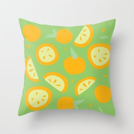 Tropical - Citrus Throw Pillow