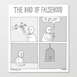 Moonbeard - The Bird of Falsehood Canvas Print