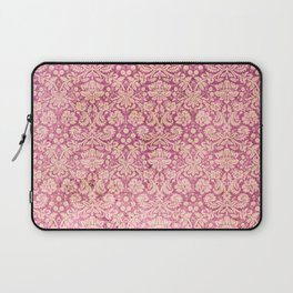 Vintage Antique Pink-Rose Wallpaper Pattern Laptop Sleeve