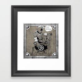 Spartan Buddha Yoga Framed Art Print