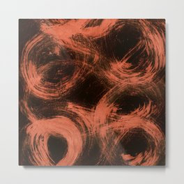 Kleinspir, Abstract, Orange Flamengo Metal Print