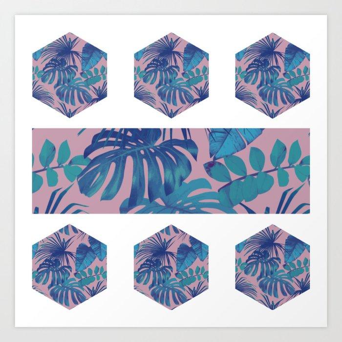 Botanical Hexagon Art Print