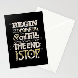 Begin at the Beginning Stationery Cards