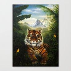 Jungle Tiger Landscape Canvas Print