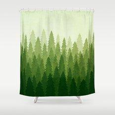 C1.3 Pine Gradient Shower Curtain