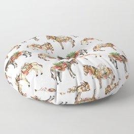 Nepal Donkeys Floor Pillow