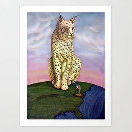 Frostburg Bobcat Art Print