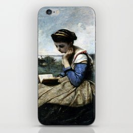 Camille Corot A Woman Reading iPhone Skin