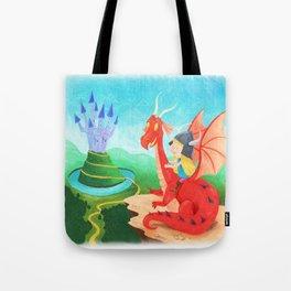 The Girl and The Dragon Tote Bag