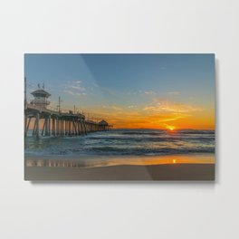 Burning Sunset Metal Print