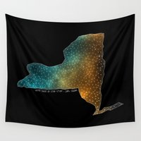 sagan Wall Tapestries featuring New York StarStuff by Yespo Designs