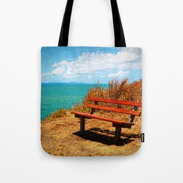 Park Bench On The Headland Tote Bag