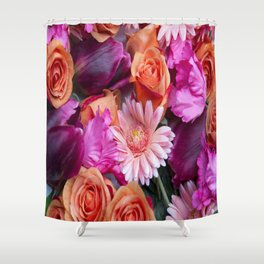 flower mix Shower Curtain
