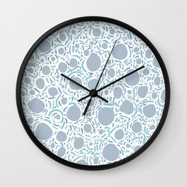 Waves and circles - ocean palette Wall Clock