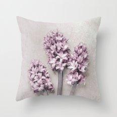 Beautiful Pink Hyacinths Throw Pillow