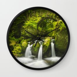 Stone bridge and waterfall in Luxembourg Wall Clock