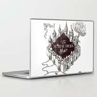 marauders Laptop & iPad Skins featuring MARAUDERS MAP by ThreeBoys