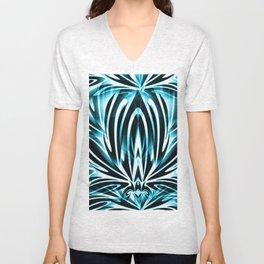 Tribal Turquoise Design Unisex V-Neck