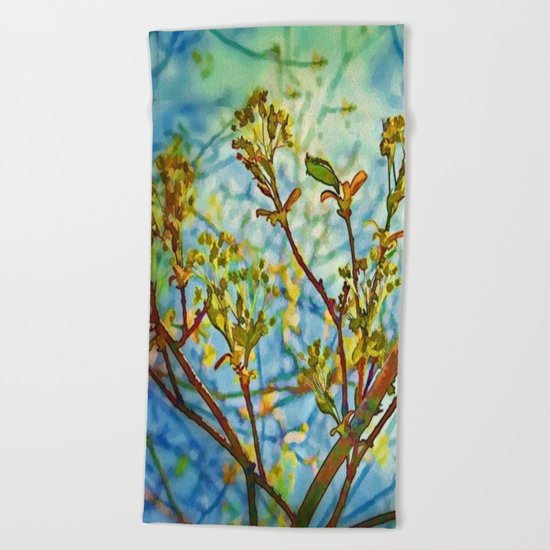 Budding Branches Beach Towel