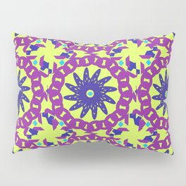 Chained Link Purple Spiral Flowers Pillow Sham