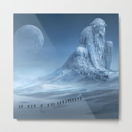 Travel On Fantasy Planet Metal Print