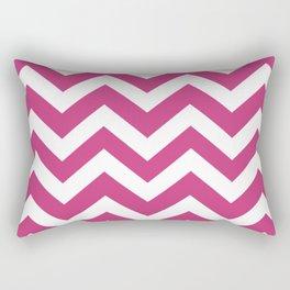 Fuchsia purple - pink color - Zigzag Chevron Pattern Rectangular Pillow