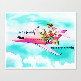 Let´s go and make memories Canvas Print