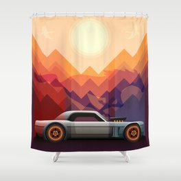 Into the Sun, Ford Mustang 65 KB Shower Curtain