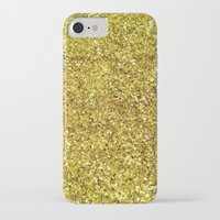 gold glitter iPhone & iPod Cases featuring GOLD GLITTER by natalie sales