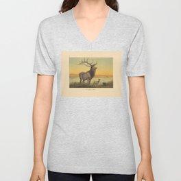 The Wapiti Deer Unisex V-Neck